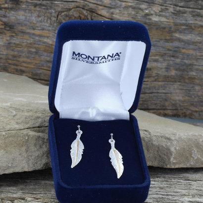 Montana Silversmiths Montana Silversmith ER-2-Tone Feather Dangle