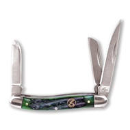American Buffalo Knife and Tool Chaparrel Stockman Green Bone Knife