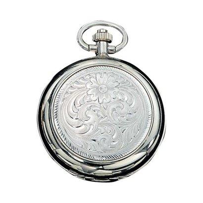 Montana Silversmiths Montana Silversmith Engraved Silver Pocket Watch