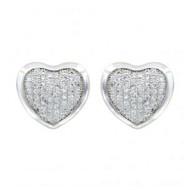 Montana Silversmiths Montana Pave Heart Earrings