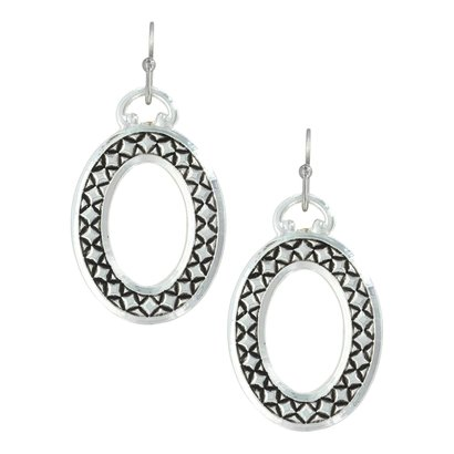 Montana Silversmiths Montana Silversmith Simply Stitched Oval Earrings