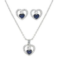 Montana Silversmiths Montana Silversmith Curlicued Cerulean Heart Jewelry Set