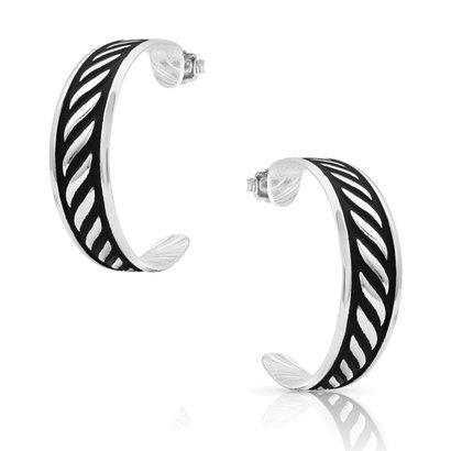 Montana Silversmiths Montana Silversmith Twisted Rope Hoop Earrings