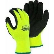 3396HYT Xl Hv Yel. Lin. Knit Rub. Dip Glove-Pola