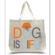 DOG IS LIFE TOTE
