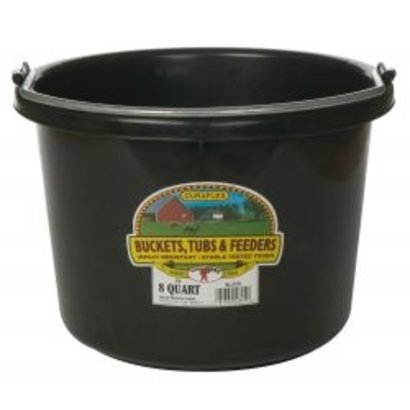 Miller Manufacturing Co. Duraflex Round Plastic Bucket 8 qt.