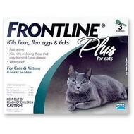 Merial Ltd Frontline Plus Flea & Tick for Cats 3 Month Supply
