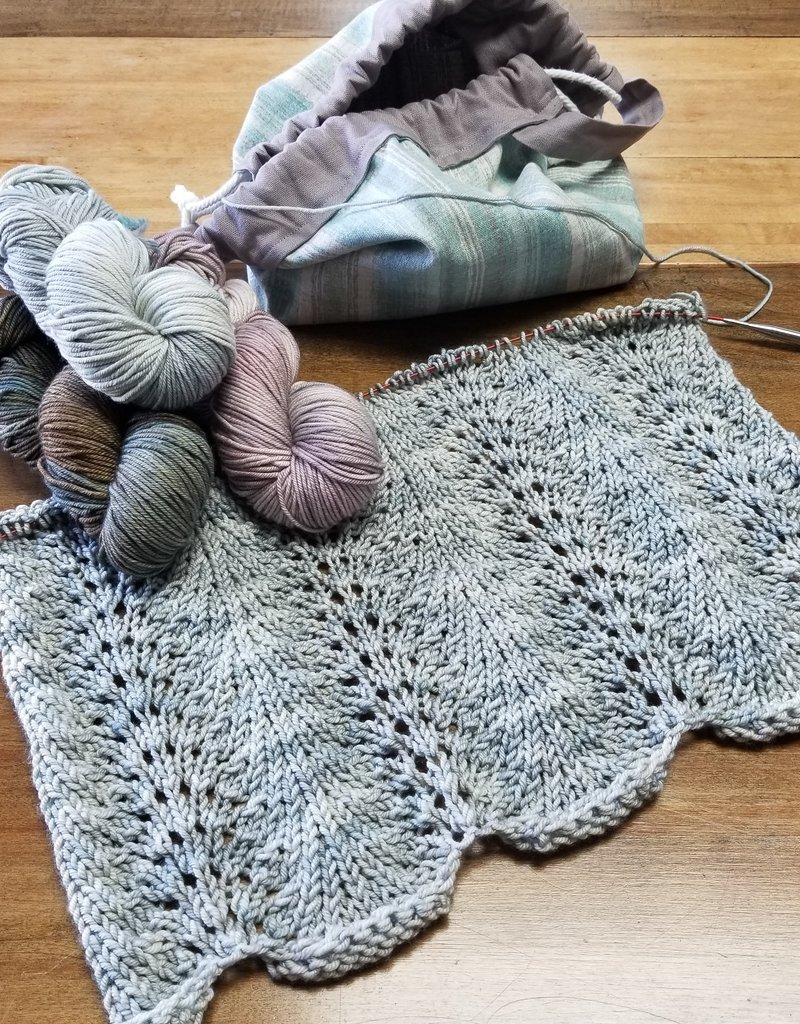 Feather and Fan Lace Scarf Class