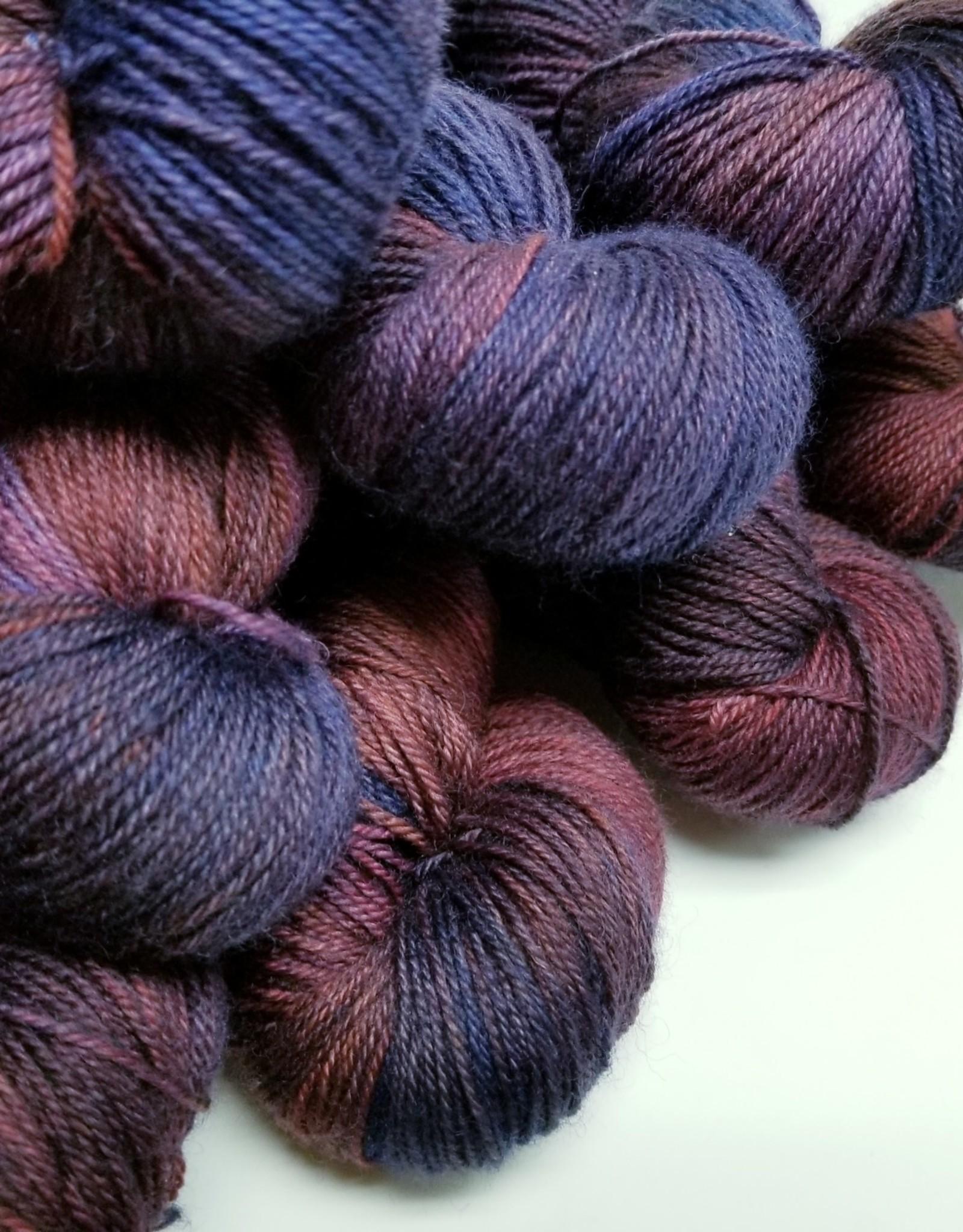 Palouse Yarn Company I Heart BFL Sock SUNSET over BANNER RIDGE