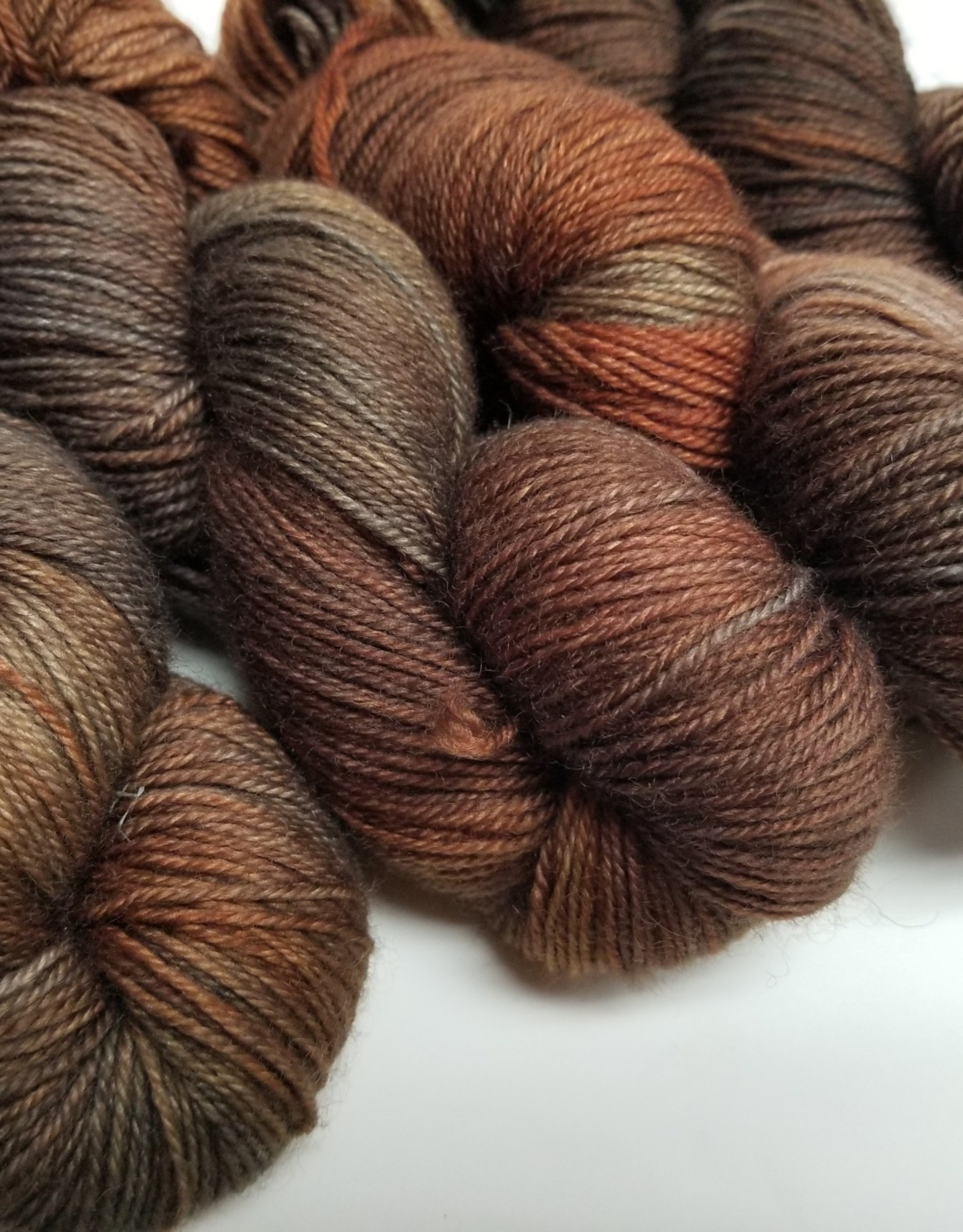 Palouse Yarn Company I Heart BFL Sock Fire Fox