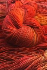 Palouse Yarn Company I Heart BFL Sock Orange Hawkweed
