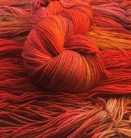 Palouse Yarn Co I Heart BFL Sock Orange Hawkweed