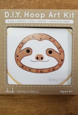 Kiriki Embroidery Baby Sloth Hoop Art kit