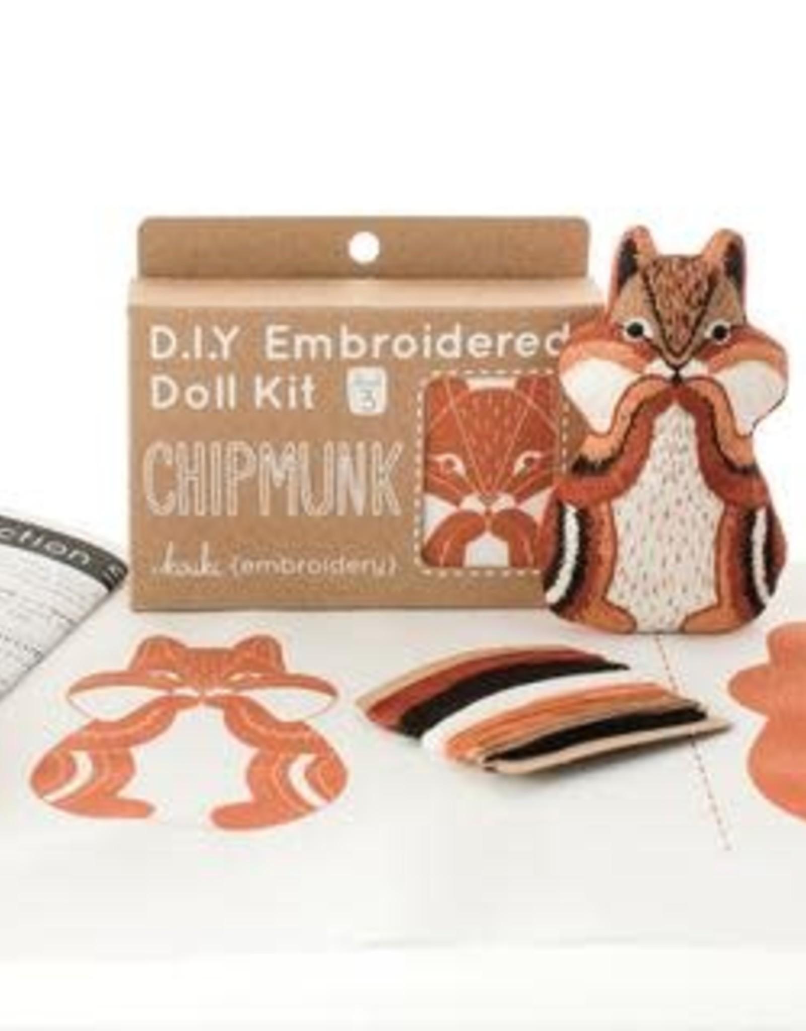 Kiriki Embroidery Kit Level 3 chipmunk