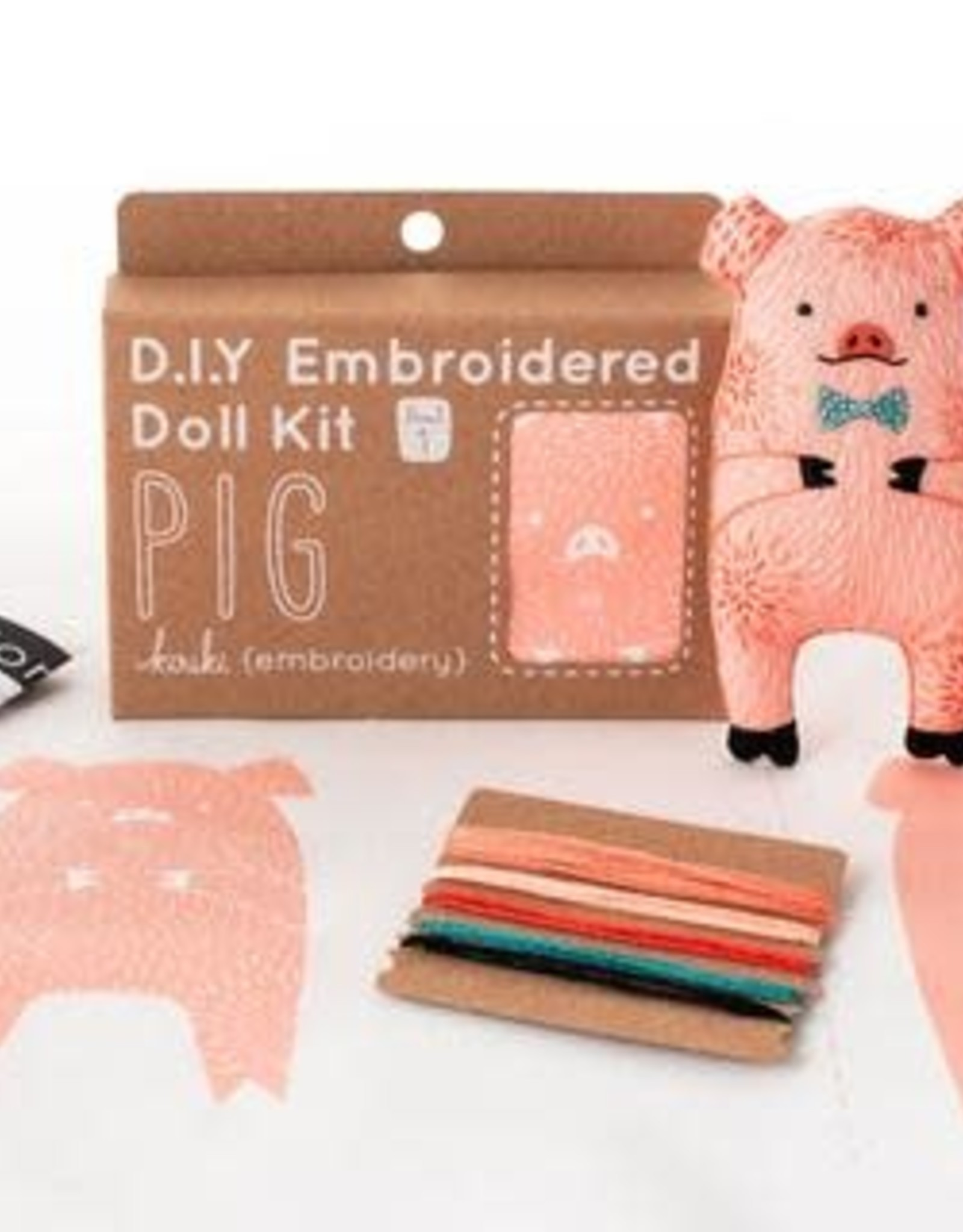Kiriki Embroidery Kit Level 1 pig