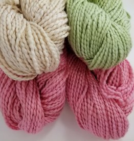 Plymouth Yarns KIT Cotton Bulky Baby Blanket pink/nat/green 400g