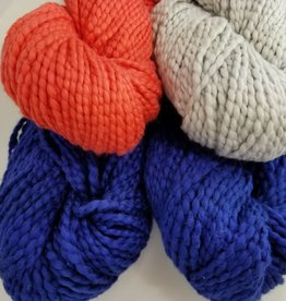 Plymouth Yarns KIT Baby Blanket blue/coral/grey 400g