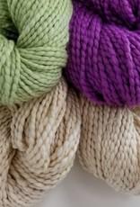 Plymouth Yarns KIT Cotton Bulky Baby Blanket nat/plum/green 400g