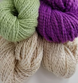 Plymouth Yarns KIT Cotton Bulky Baby Blanket nat/plum/green 400g