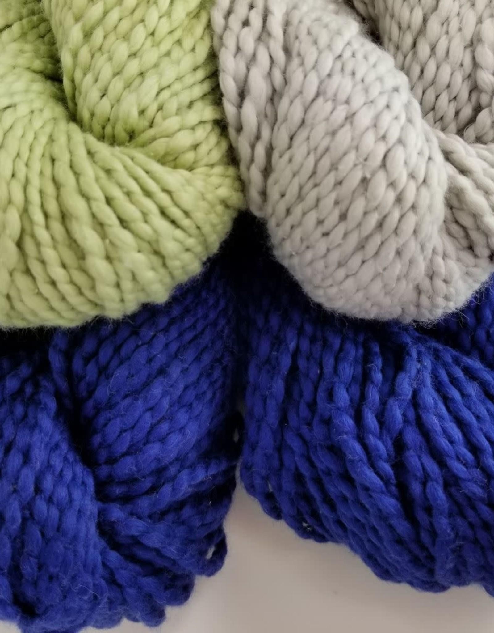 Plymouth Yarns KIT Cotton Bulky Baby Blanket navy/grn/grey 400g