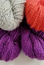 Plymouth Yarns KIT Cotton Bulky Baby Blanket plum/coral/grey 400g