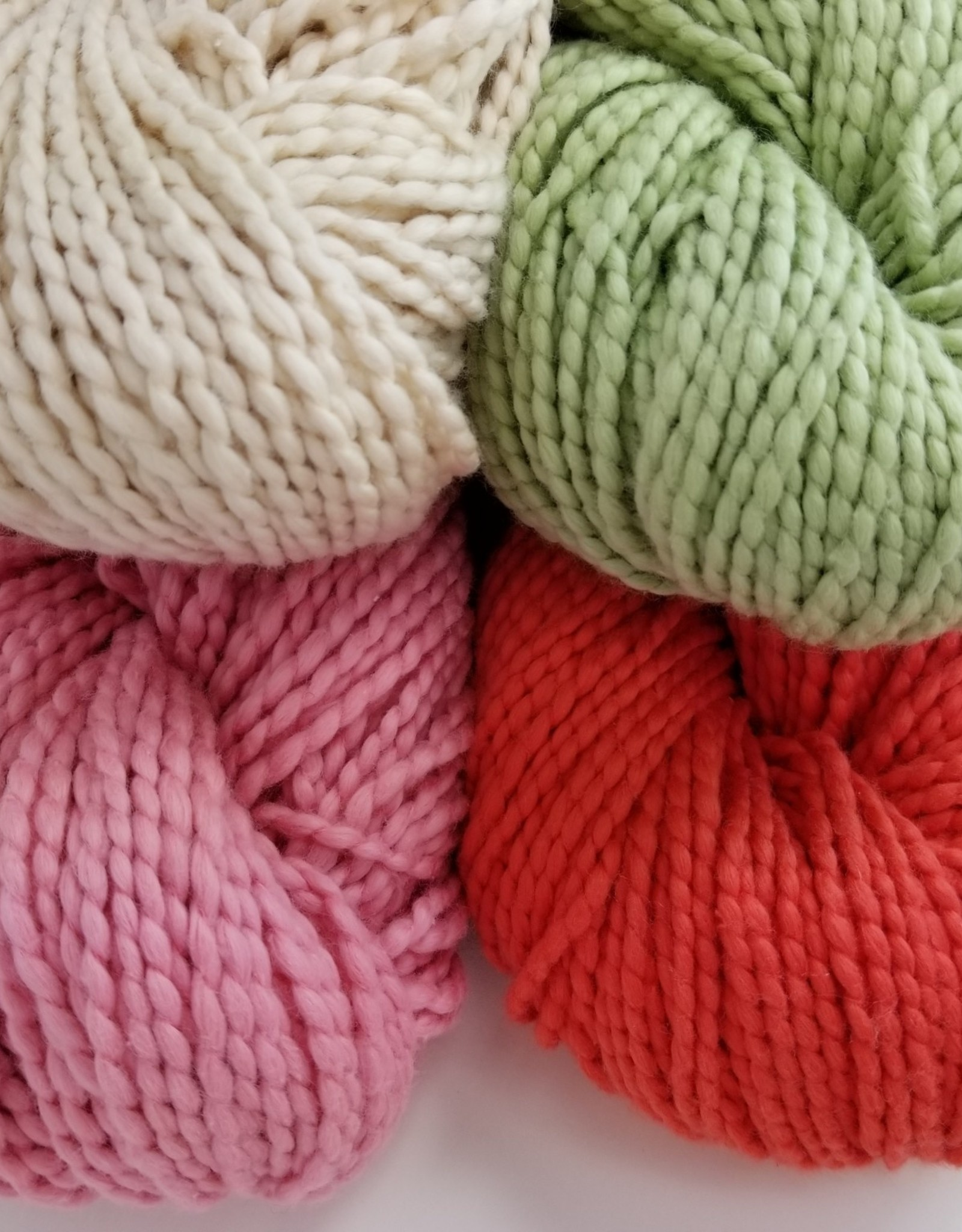Plymouth Yarns KIT Cotton Bulky Baby Blanket rose/coral/grn/nat 400g