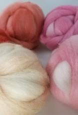 Palouse Yarn Co KIT Felting Fiber, 10 ounces, 5 colors, hand dyed!