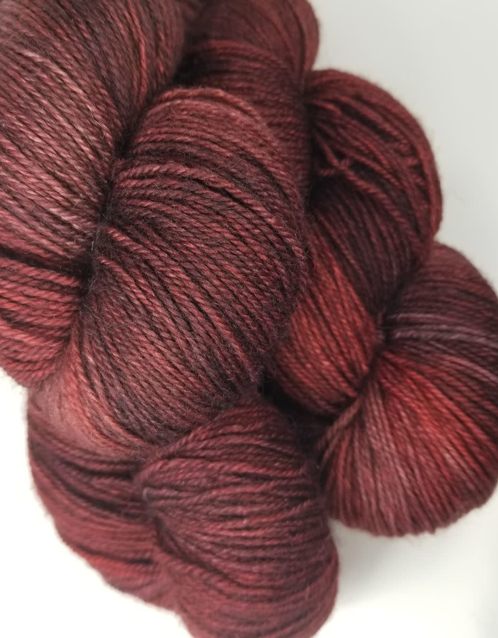 Palouse Yarn Co I Heart BFL Sock Scorched Earth