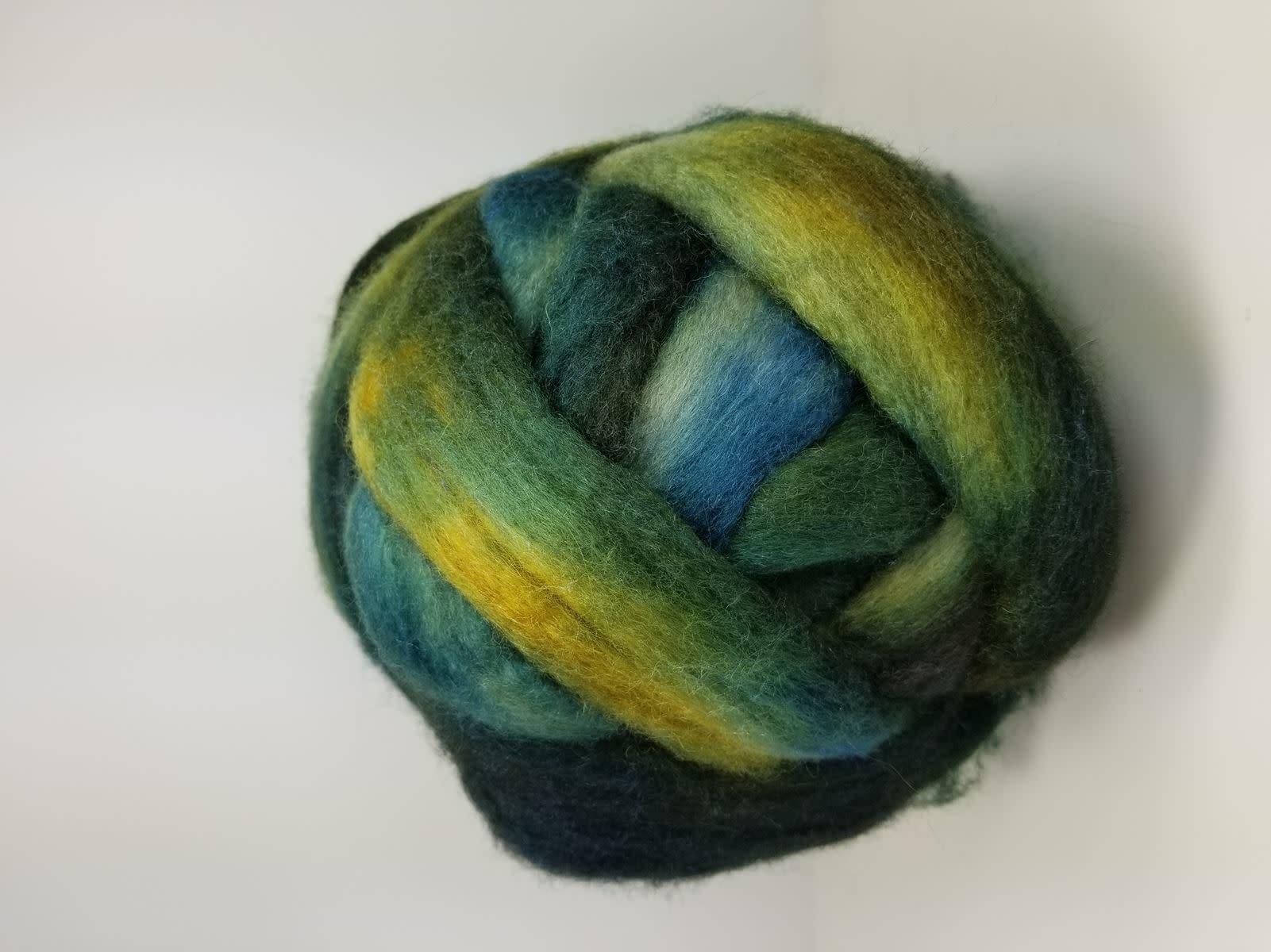 Melon Melange BFL Wool Top 4 ounces Hand dyed Spinning Fiber