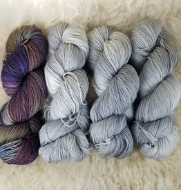 """Palouse Yarn Co KIT Darkwater Pullover Airstream.Iris 3+1 skein, fit to sz 40.75"""" bust"""