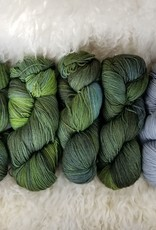 """Palouse Yarn Co KIT Darkwater Pullover Swamp Thing 4+1skein, fit to sz 53.75"""" bust"""