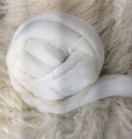 Fiber  Corriedale Ecru 4 ounces
