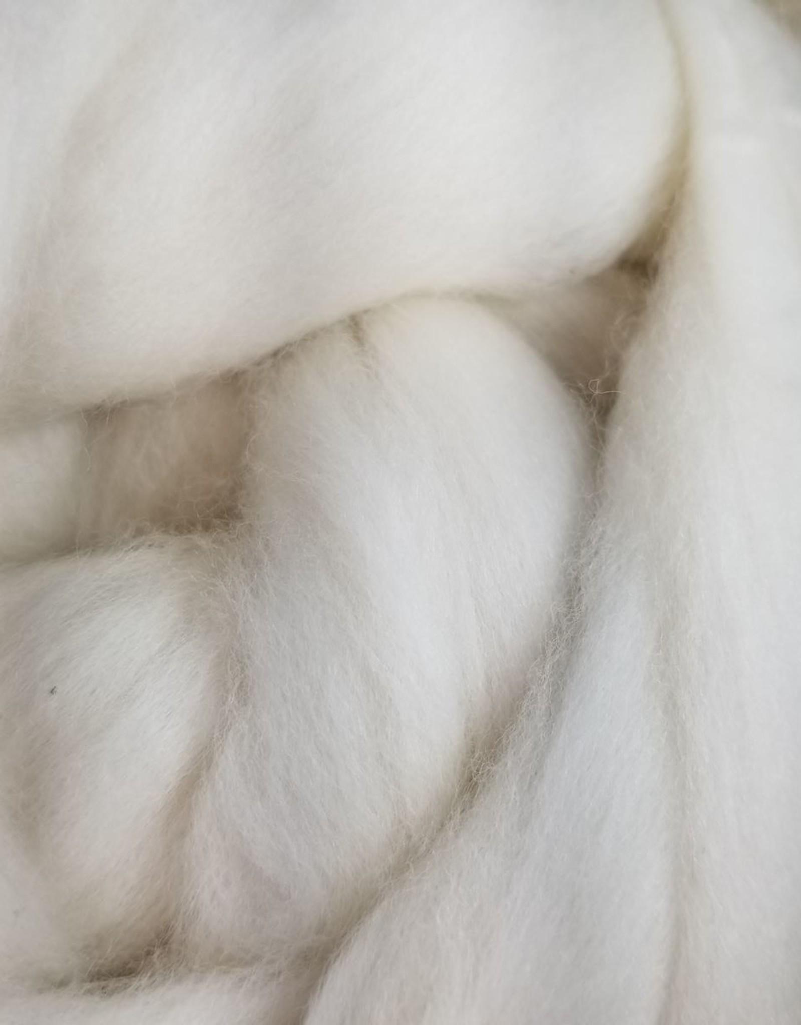 JaggerSpun Organic Wool Roving LB