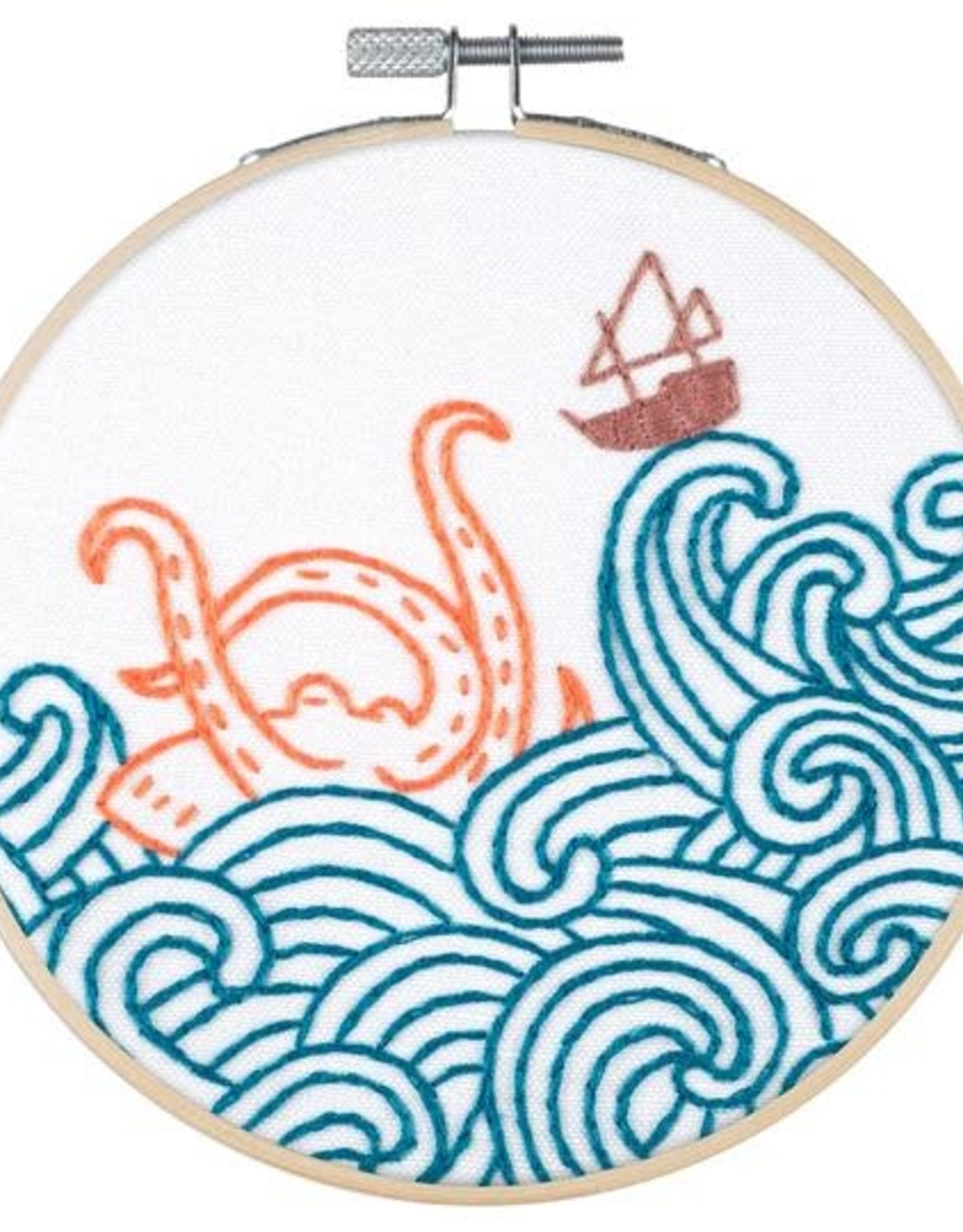 "PopLush The Kraken!  5"" Embroidery Kit"