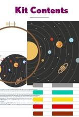 "PopLush Solar System 8"" Embroidery Kit"
