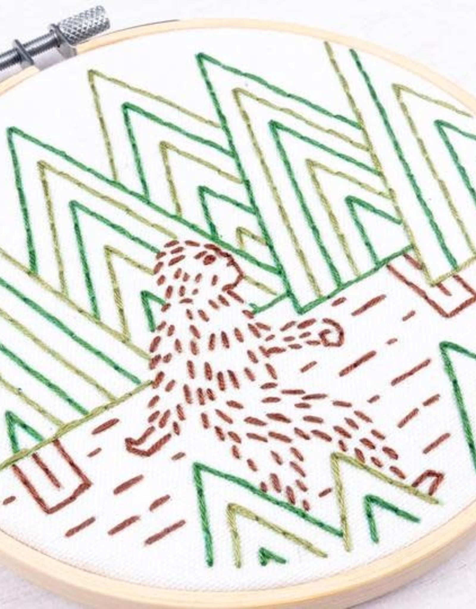 "PopLush Sasquatch 5"" Embroidery Kit"