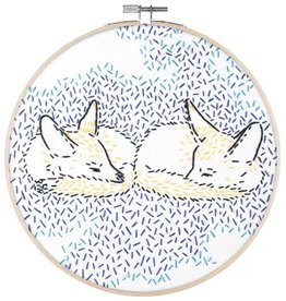 "PopLush Dreaming Foxes 8"" Embroidery Kit"