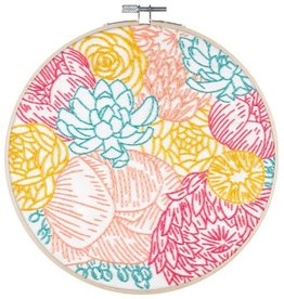 "PopLush Floral Profusion 8"" Embroidery Kit"