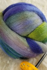 Palouse Yarn Co KIT Deluxe Drop Spindle w 8in small Akerworks & BFL/Silk