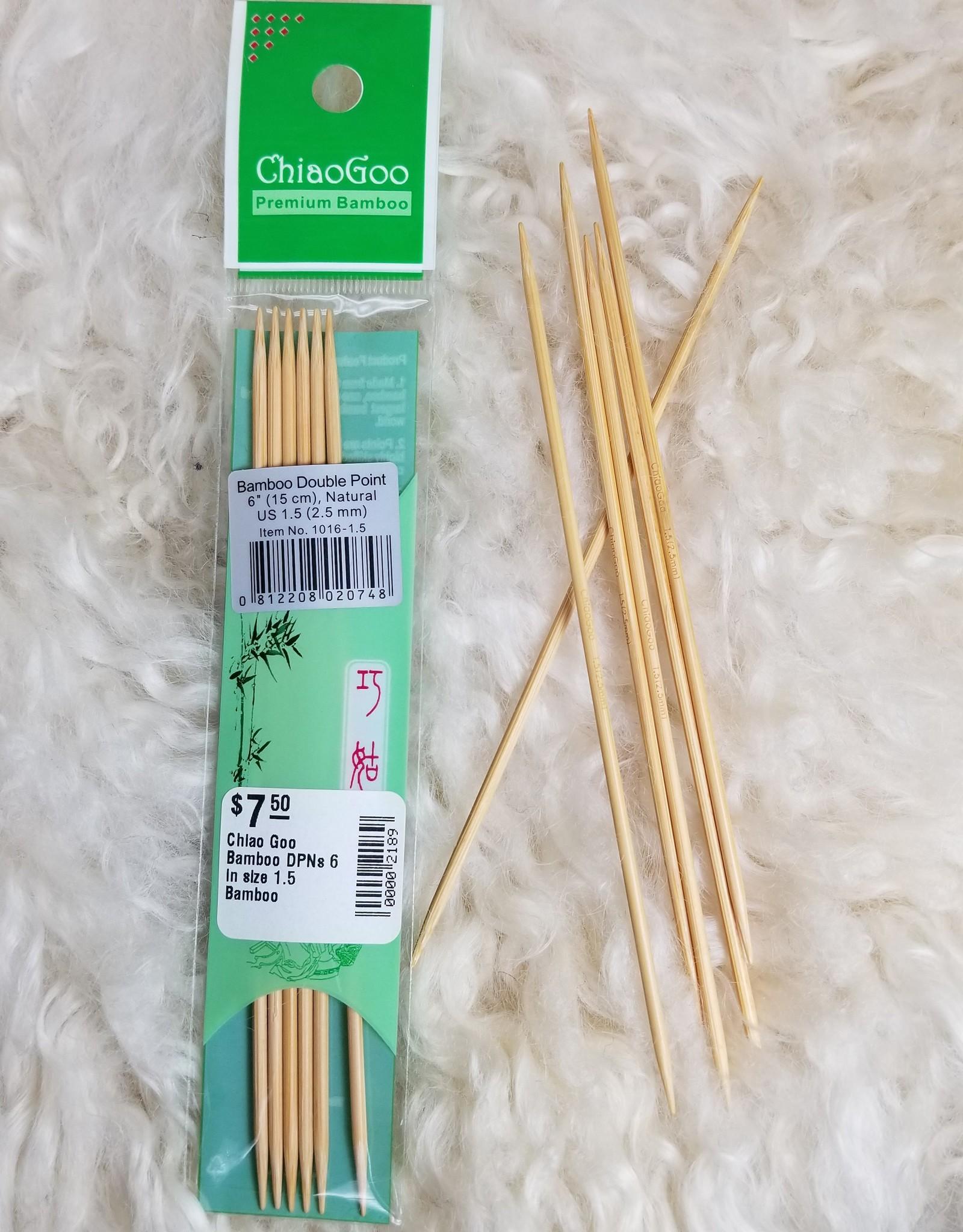 "Chiao Goo Bamboo 6"" Sock DPNs"