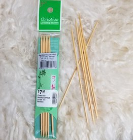"Chiao Goo Bamboo 6"" sz 0-3 Sock Double Pointed Needles"