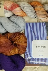 KIT Stripes book + HD Sock Yarn Set purple-peony