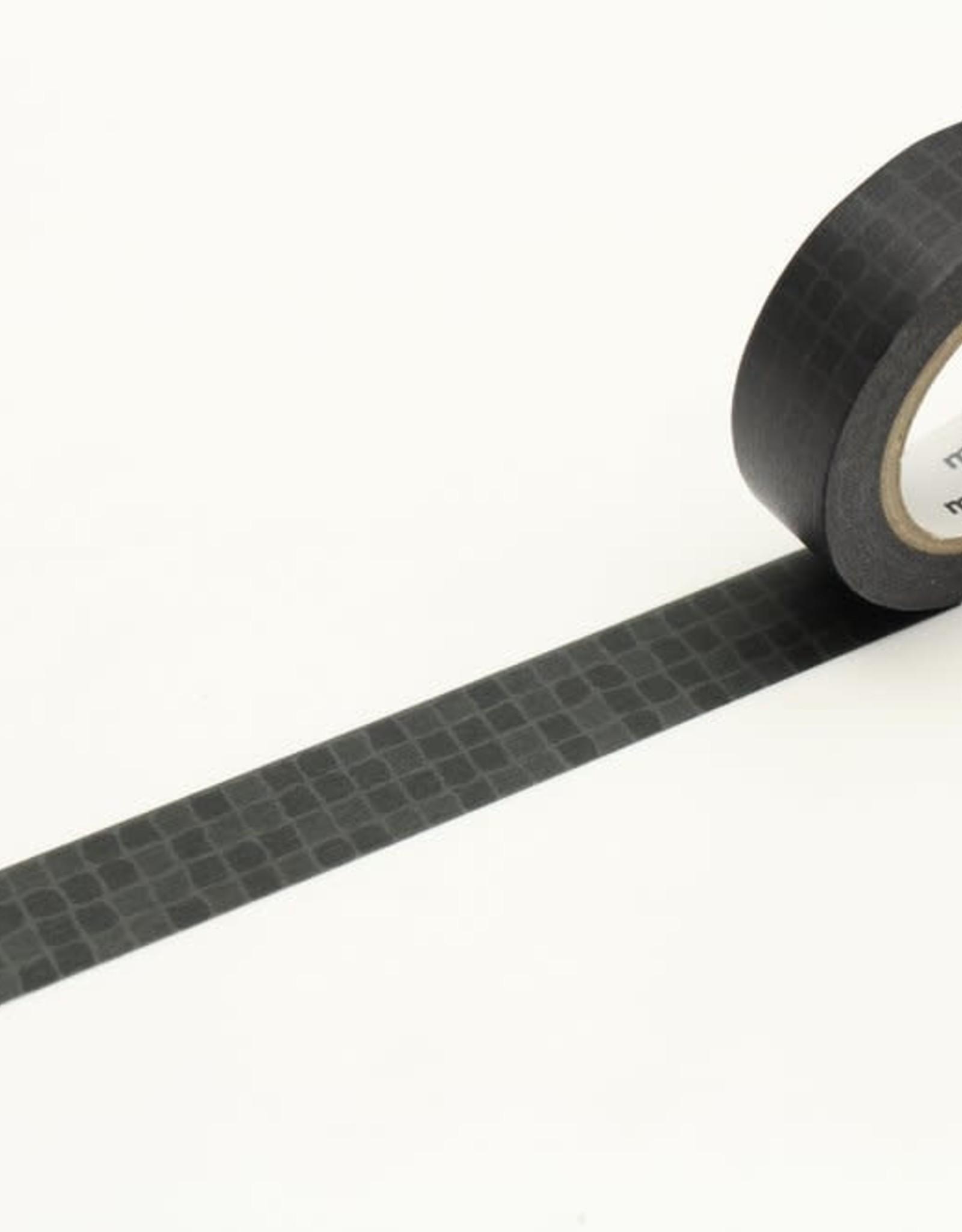 MT Washi Tape black wobble tile