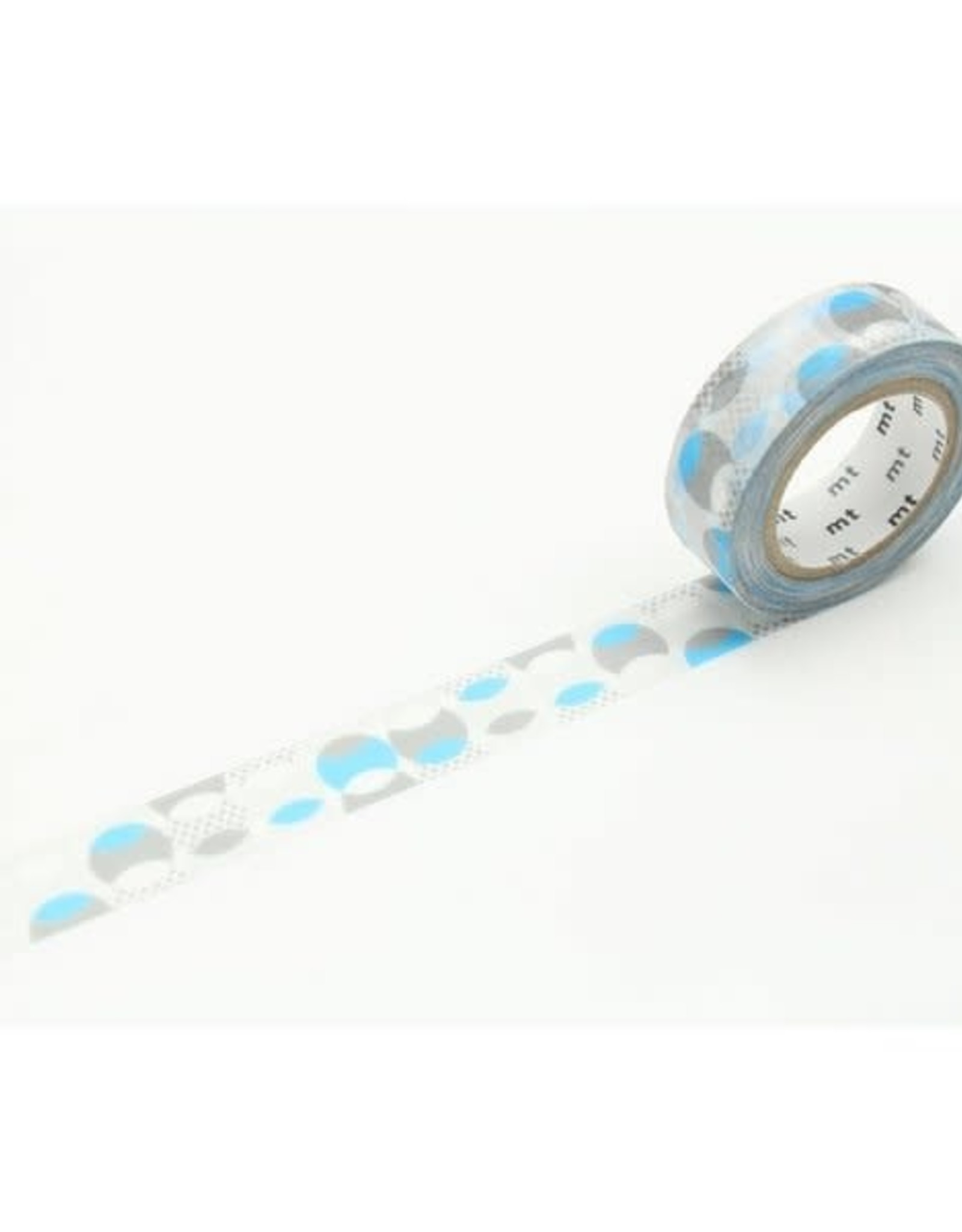 MT Washi Tape blue overlapped dots