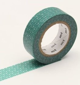 MT Washi Tape mineral green hexagon