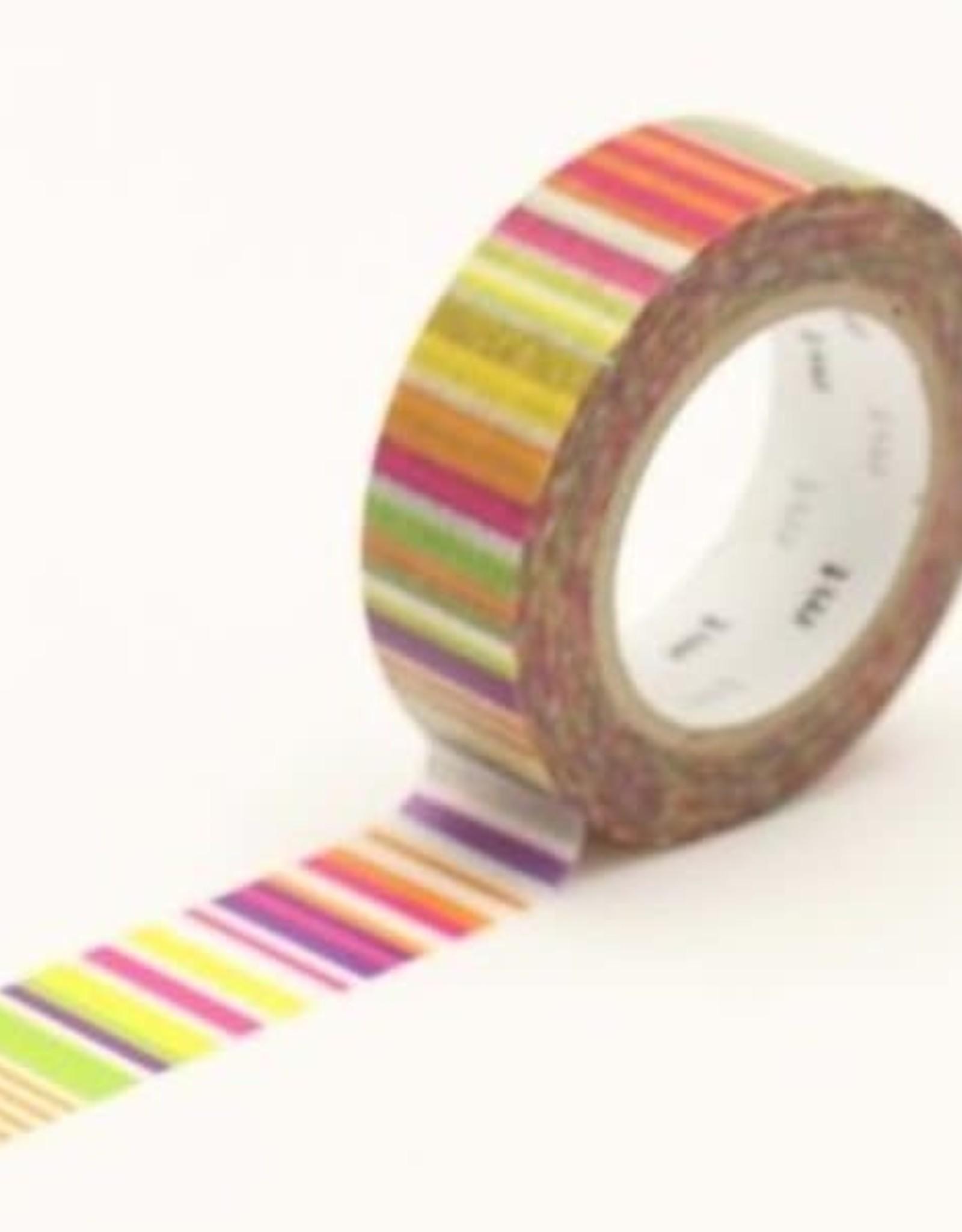 MT Washi Tape vivid multi-border