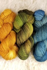 Palouse Yarn Co BFL Sock Smurfs Bleed Too