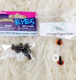 Eyes Brown Animal 12mm