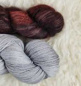 Palouse Yarn Co Mohair Pair Scorched + Silver