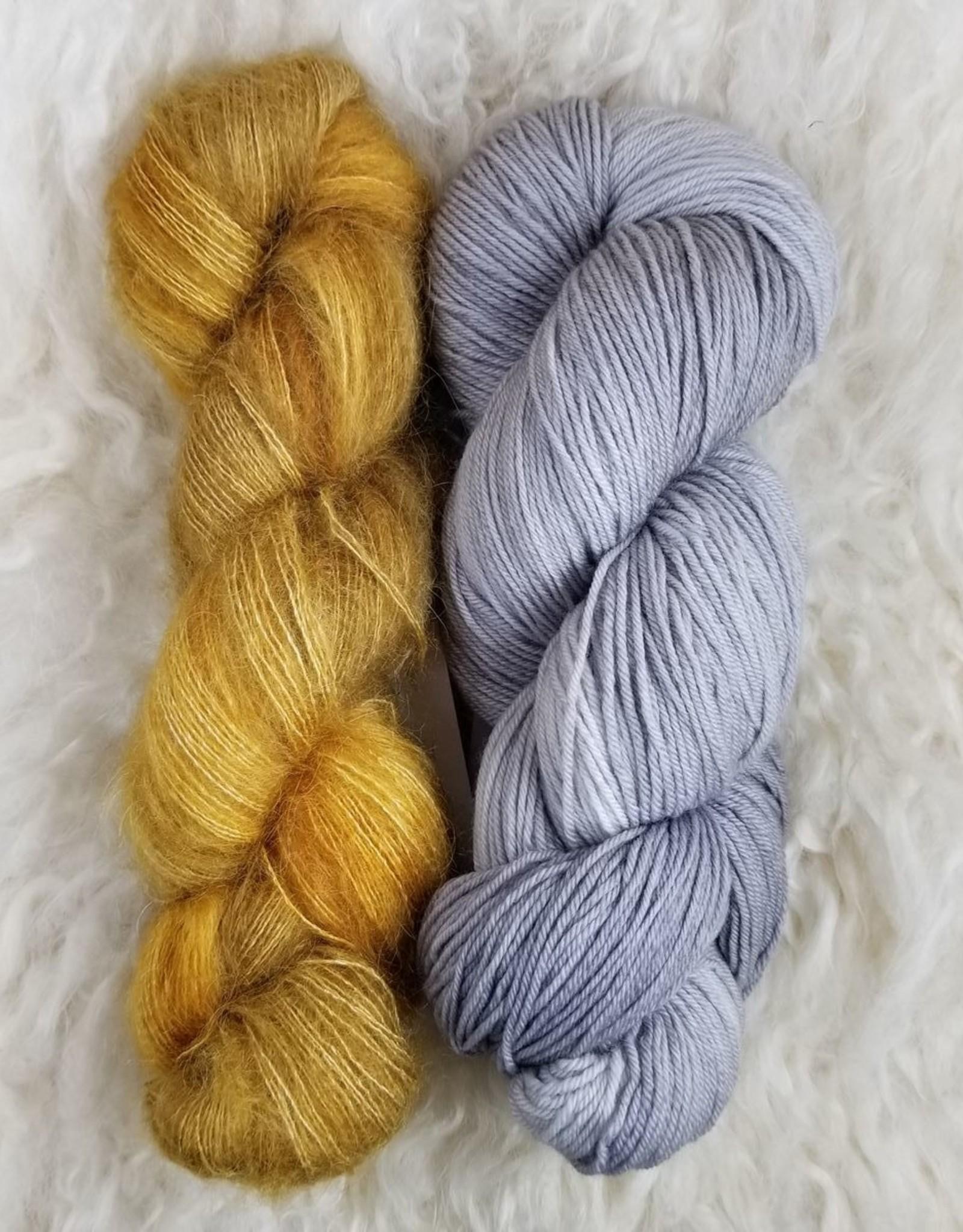 Palouse Yarn Co Mohair Pair Golden Silver